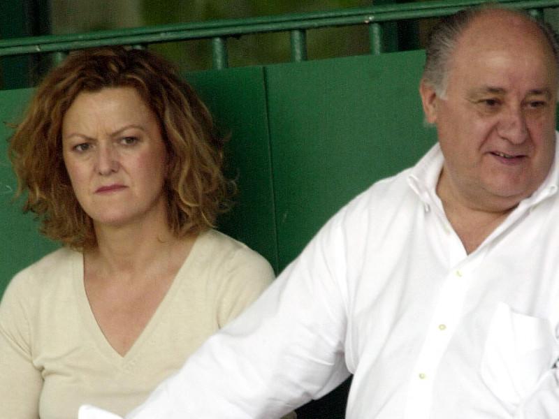 Amancio Ortega y su mujer, Flora Pérez