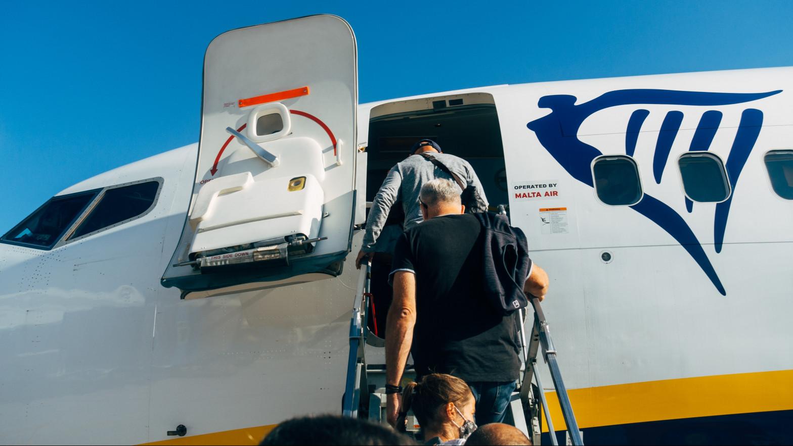El tráfico de pasajeros de Ryanair cayó el 95% en febrero