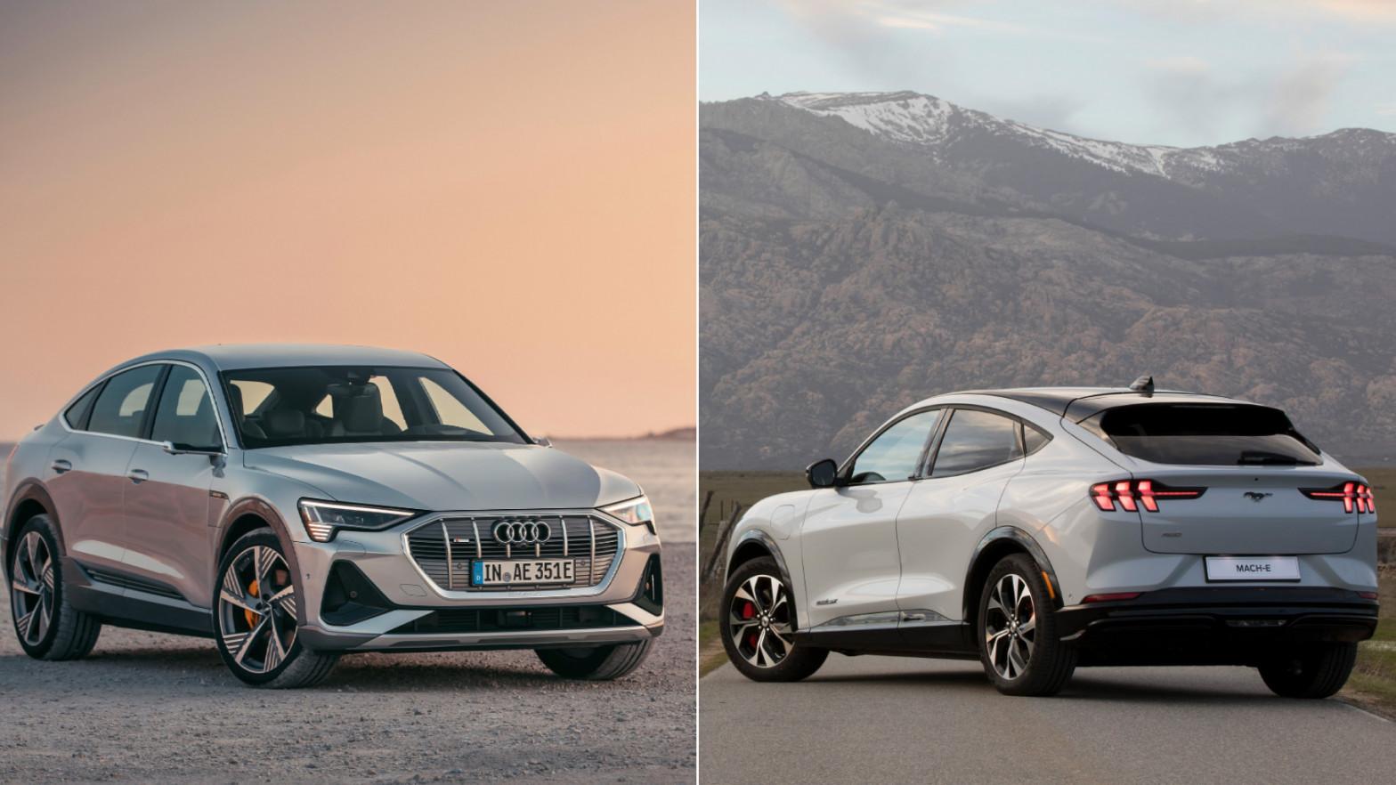 Audi e-Tron Sportback y Ford Mustang Mach-e: a Tesla le llueven los rivales