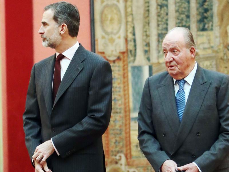 El Rey Felipe junto a Juan Carlos I