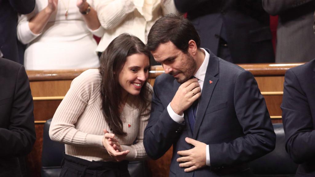 Alberto Garzón e Irene Montero