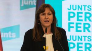 La candididata de Junts para la Generalitat, Laura Borràs.