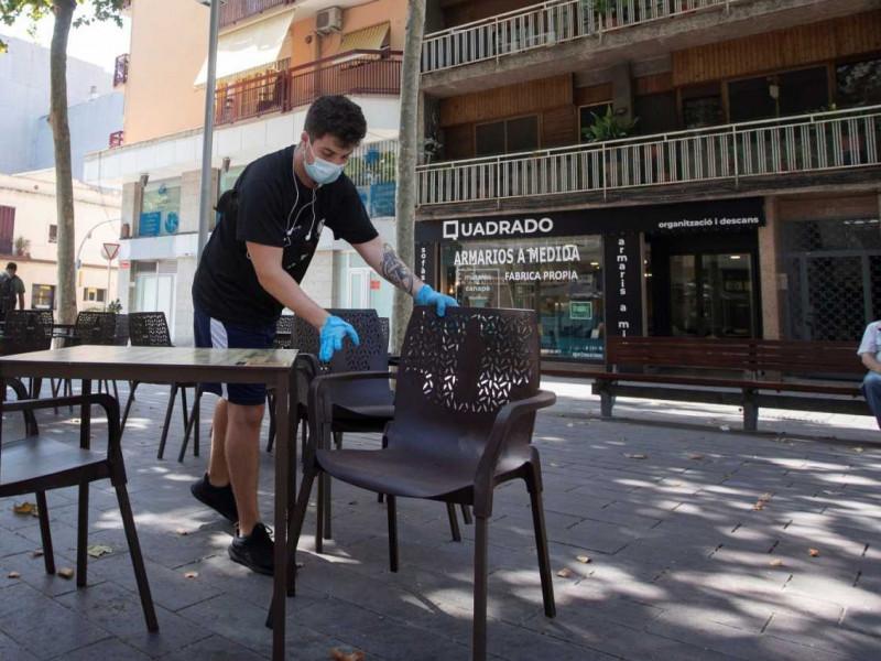 Un camarero de un restaurante de Barcelona