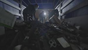 Fundición de las armas de ETA y los GRAPO