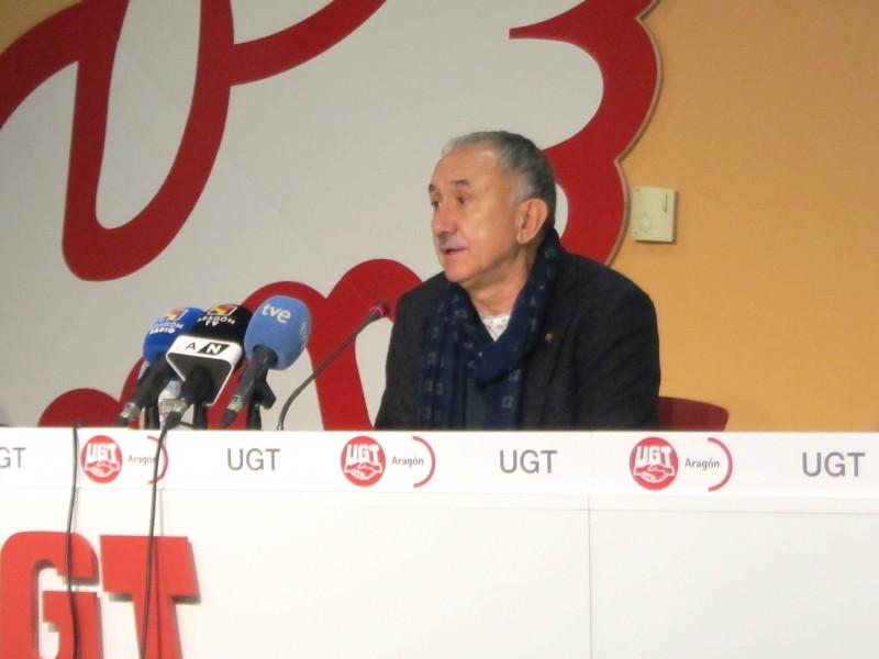 Pepe Álvarez, presidente de UGT.