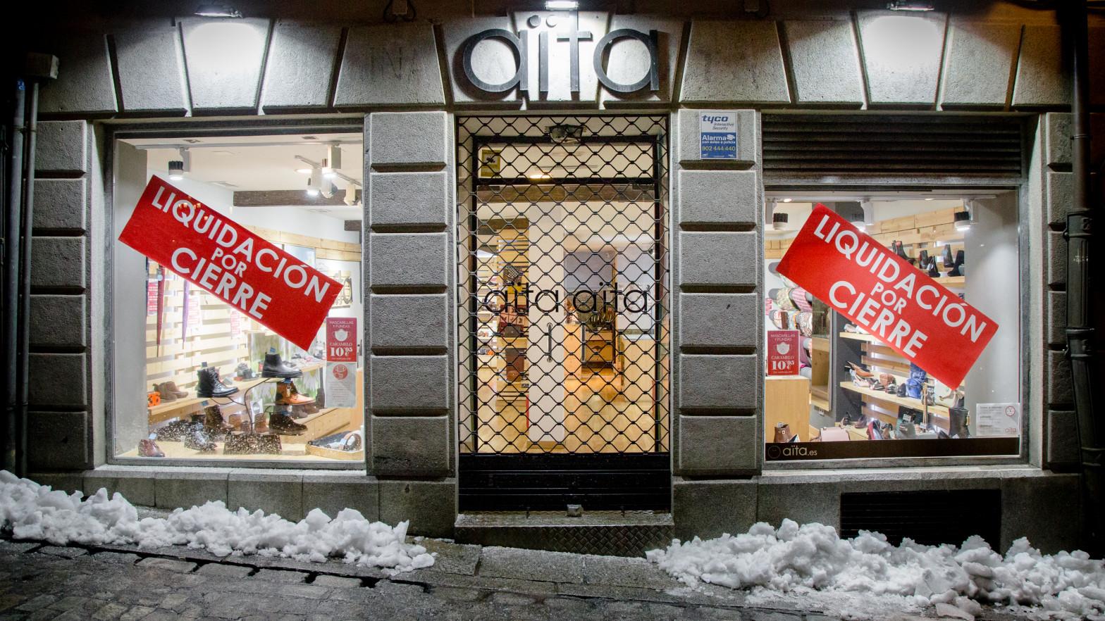 Tienda cerrada en Toledo