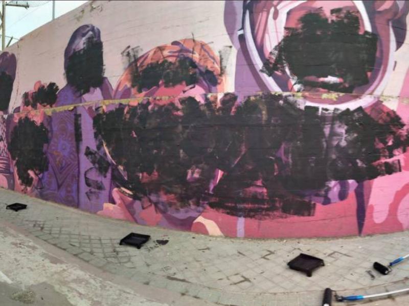 Mural feminista de Ciudad Lineal