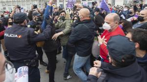 Concentración no autorizada del Sindicato de Estudiantes en la Puerta del Sol con motivo del 8-M.