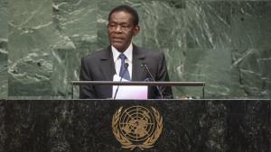 Teodoro Obiang, presidente de Guinea Ecuatorial.