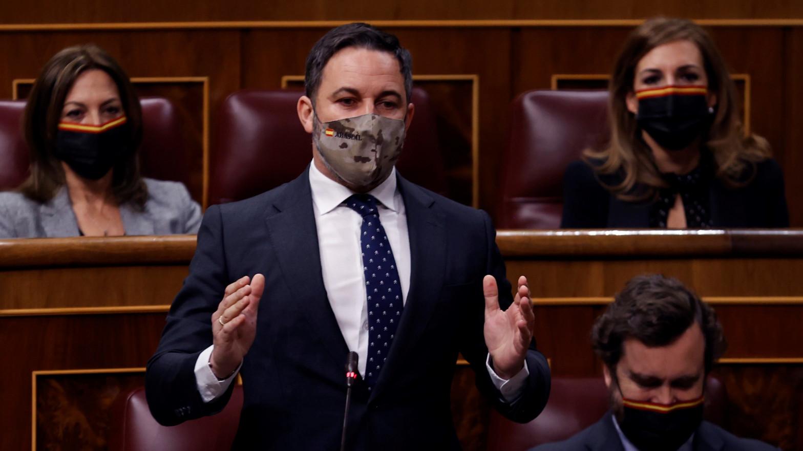 Líder de Vox, Santiago Abascal