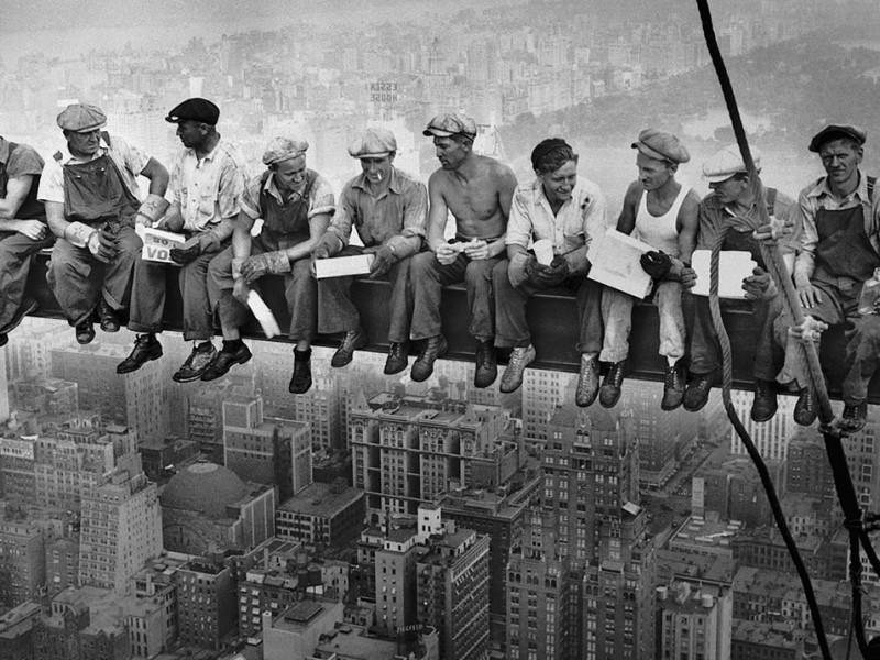 Un vasco, en la icónica foto del Rockefeller Center de Nueva York