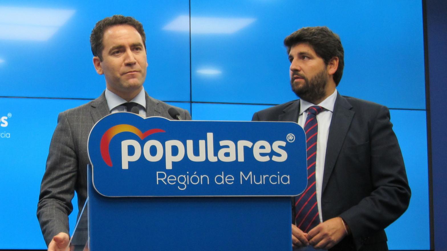 Teodoro García Egea y Fernando López Miras.