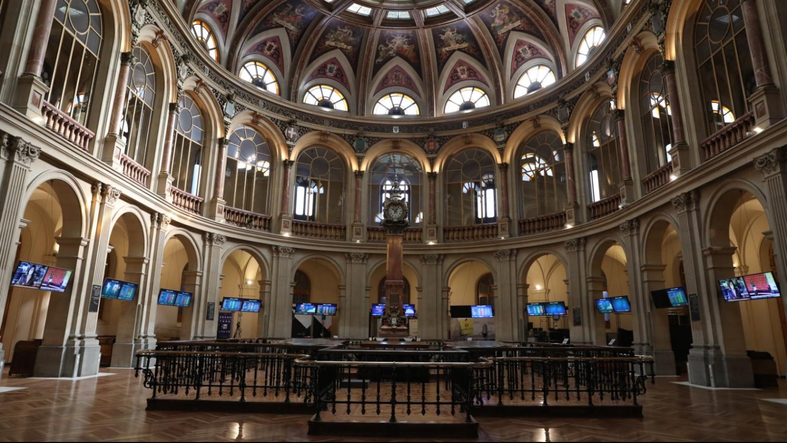 Interior del Palacio de la Bolsa (Madrid).