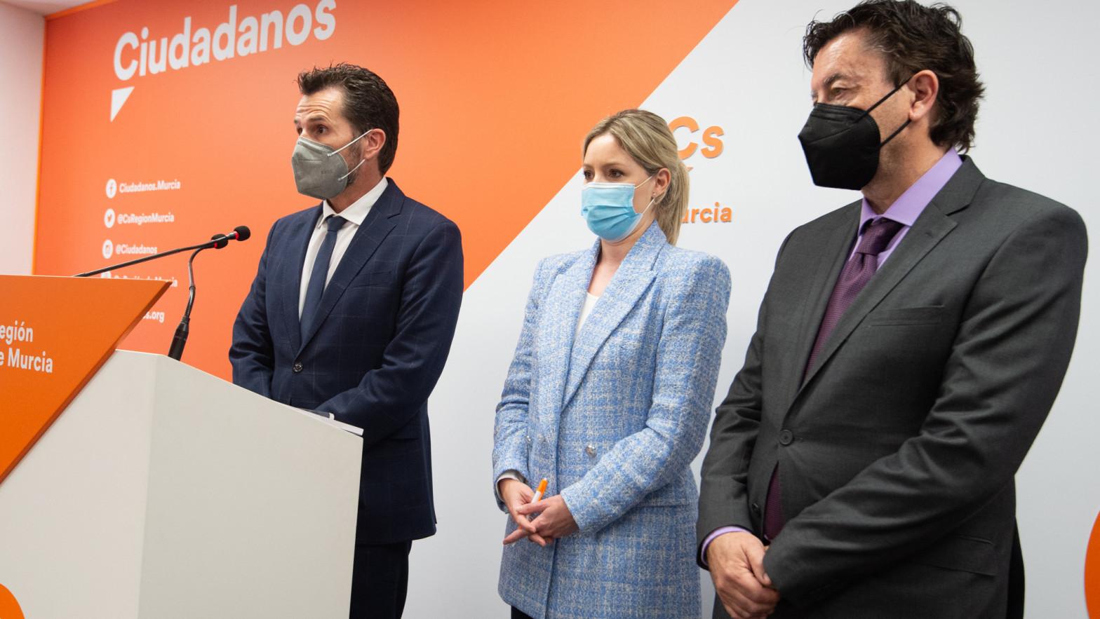 Gómez (Cs Murcia) confirma que los cuatro concejales de su partido votarán a favor de la moción en el Ayuntamiento