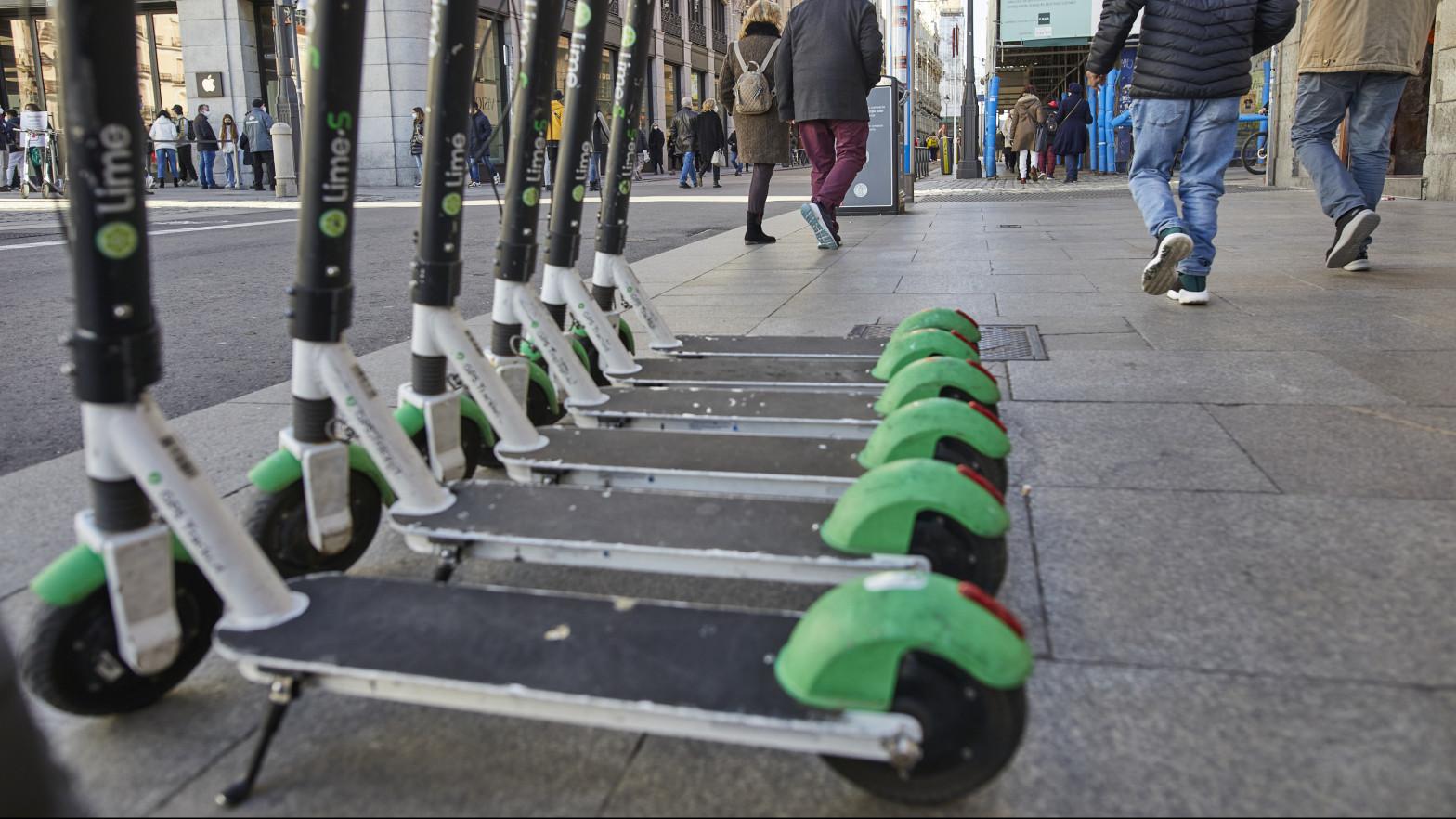 La Comunidad de Madrid diseña un nuevo mapa de aparcamientos para patinetes eléctricos