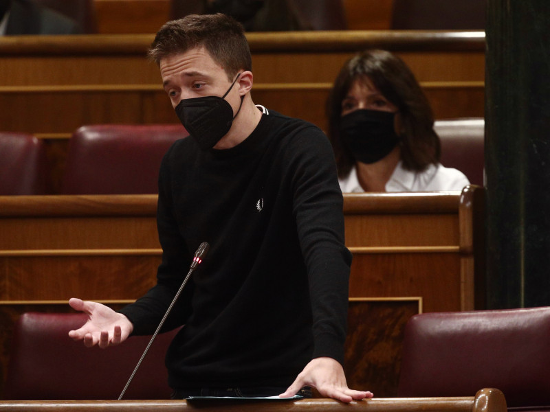 Íñigo Errejón en el Congreso de los Diputados.
