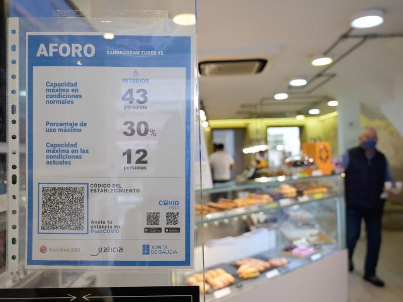 Un comercio en La Coruña.