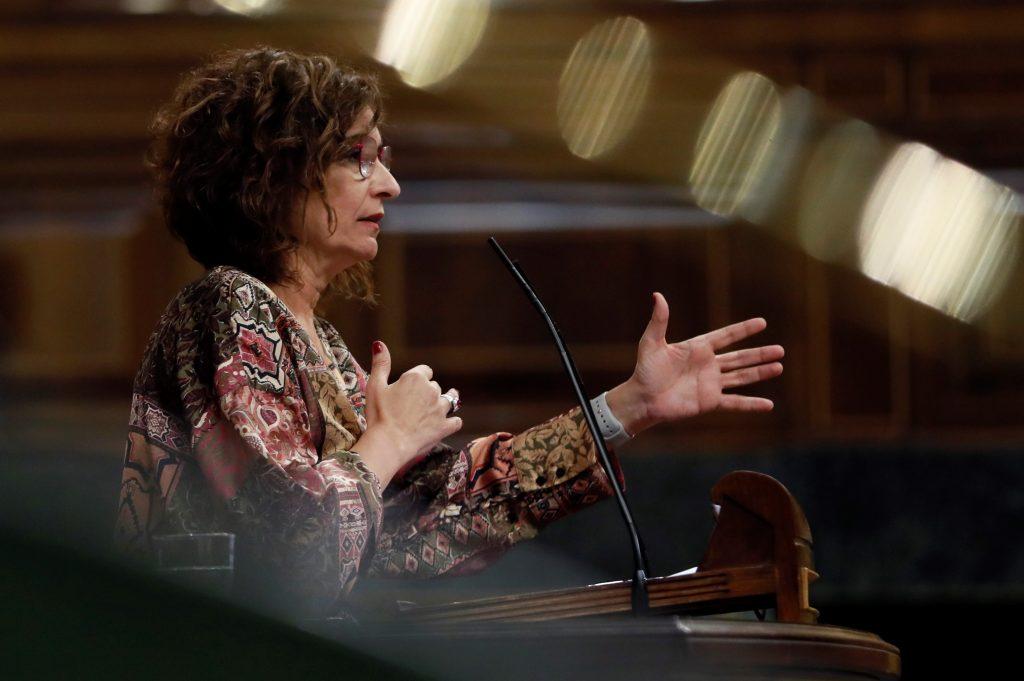La ministra de Hacienda, María Jesús Montero, interviene en el pleno en el Congreso de los Diputados, y responde sobre Plus Ultra.