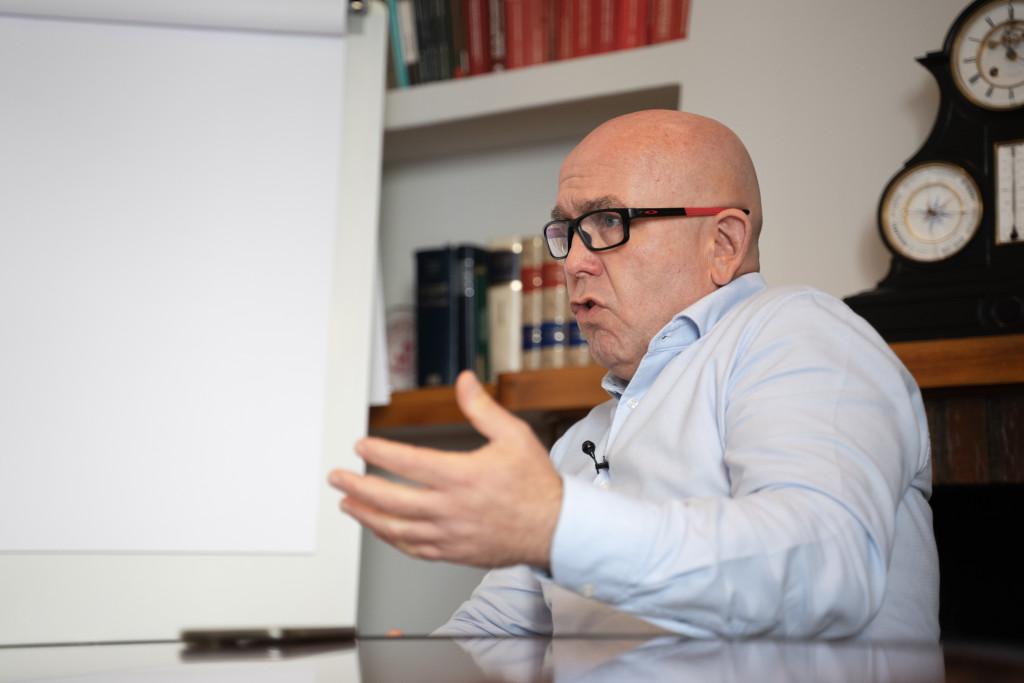 Gonzalo Boye en la entrevista con Vozpópuli.