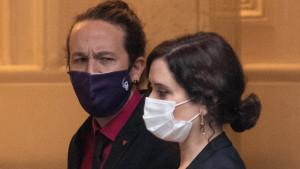 Pablo Iglesias e Isabel Díaz Ayuso.