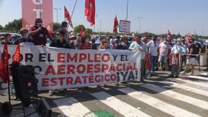 Los trabajadores de Airbus Puerto Real inician dos semanas de movilizaciones, encierros y protestas