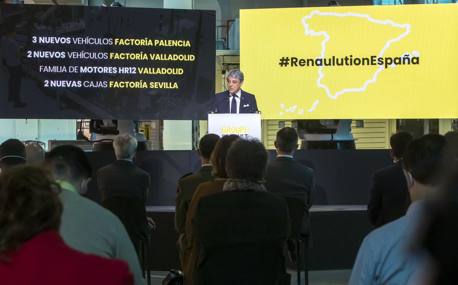 Luca de Meo confirma cinco nuevos modelos para las plantas españolas de Renault