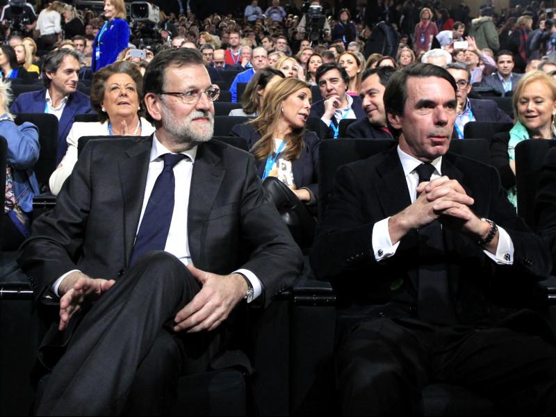 Cospedal, Rajoy, Aznar y Arenas en la Convención Nacional del PP en Madrid 23 de enero de 2015.