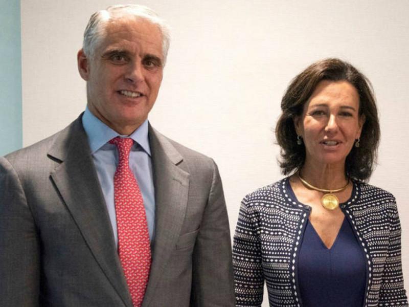 Andrea Orcel y Ana Botín, en septiembre de 2018.