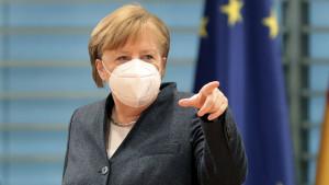 Merkel recibe la primera dosis de la vacuna de AstraZeneca