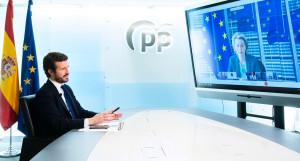 """Pablo Casado pide un control """"riguroso"""" de los fondos UE para """"evitar escándalos como el de Plus Ultra"""""""
