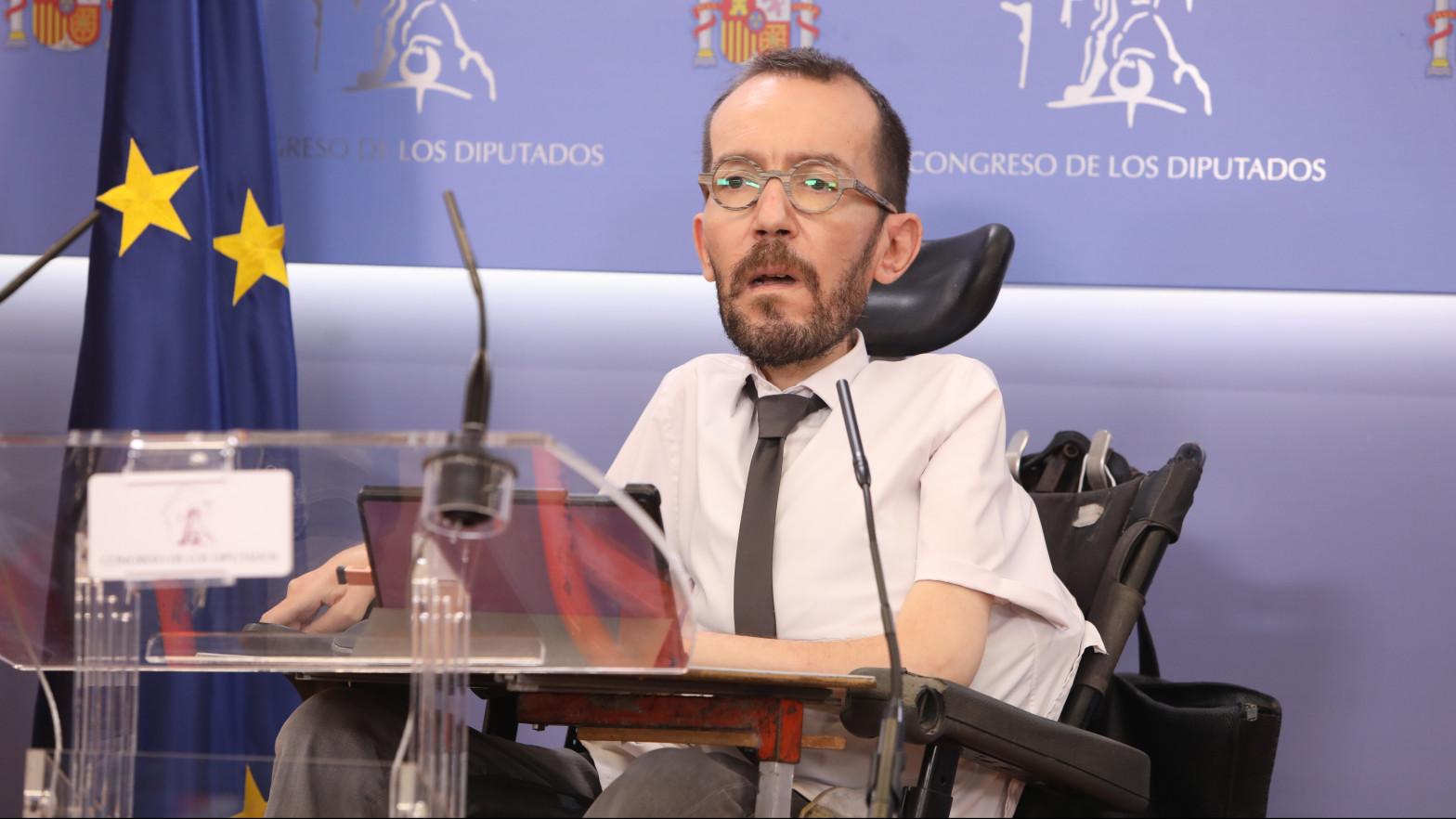 """Pablo Echenique se reafirma: """"PP y Vox buscan el voto machista"""""""