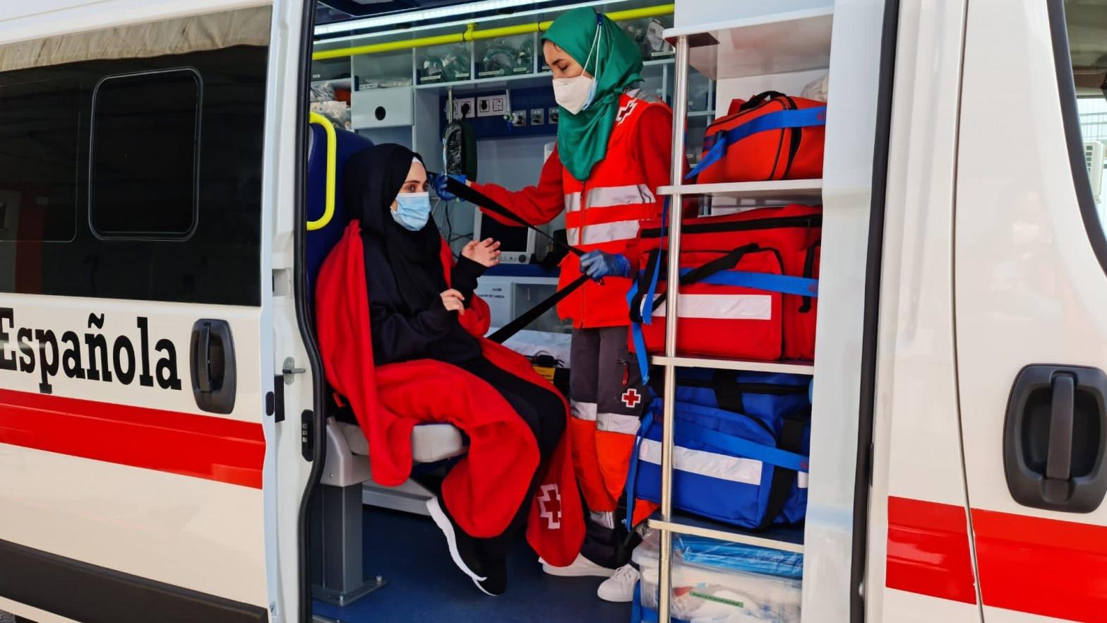 Personal de la Cruz Roja.