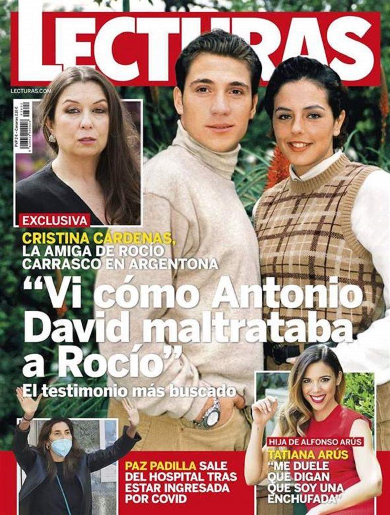 Cristina Cárdenas, la amiga de Rocío Carrasco, vio cómo Antonio David la maltrataba