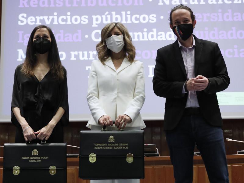 Pablo Iglesias insta a Yolanda Díaz y a Ione Belarra a seguir luchando por el interés general