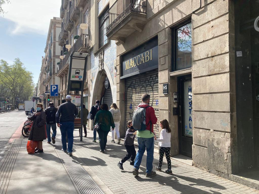 Restaurante judío Maccabi, en Las Ramblas