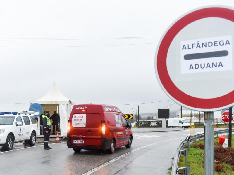Control en la frontera entre Portugal y España