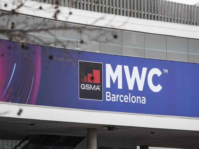 Exterior del pabellón del evento Mobile World Congress.