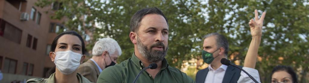 El presidente de Vox y director de campaña, Santiago Abascal.