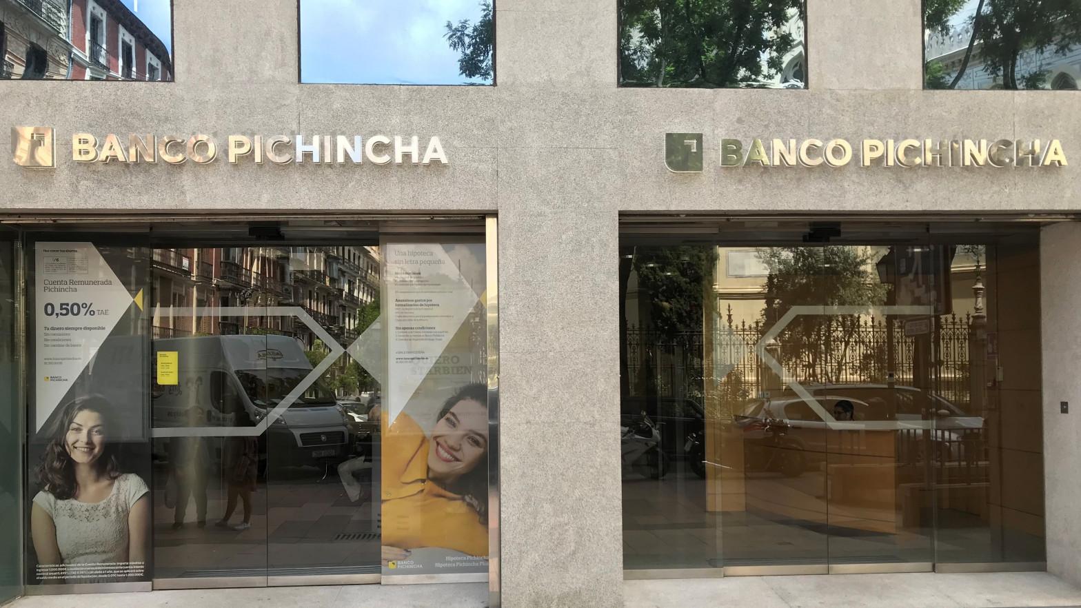 Pichincha, el banco ecuatoriano que opera en España, envuelto en un escándalo de blanqueo