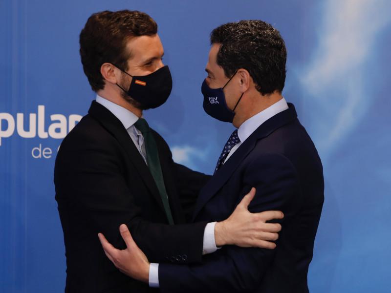 Casado y Moreno escenifican la unidad del PP tras el conflicto en Sevilla