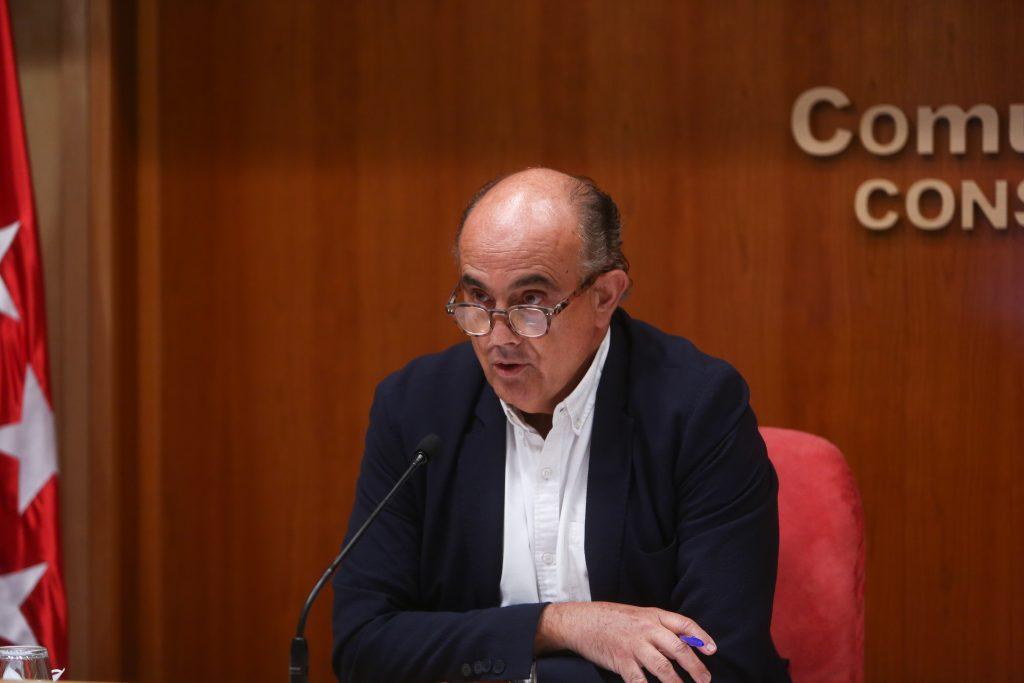El viceconsejero de Salud Pública y Plan covid-19 de la Comunidad de Madrid, Antonio Zapatero
