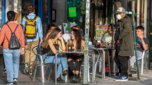 Una terraza de un bar en Madrid.