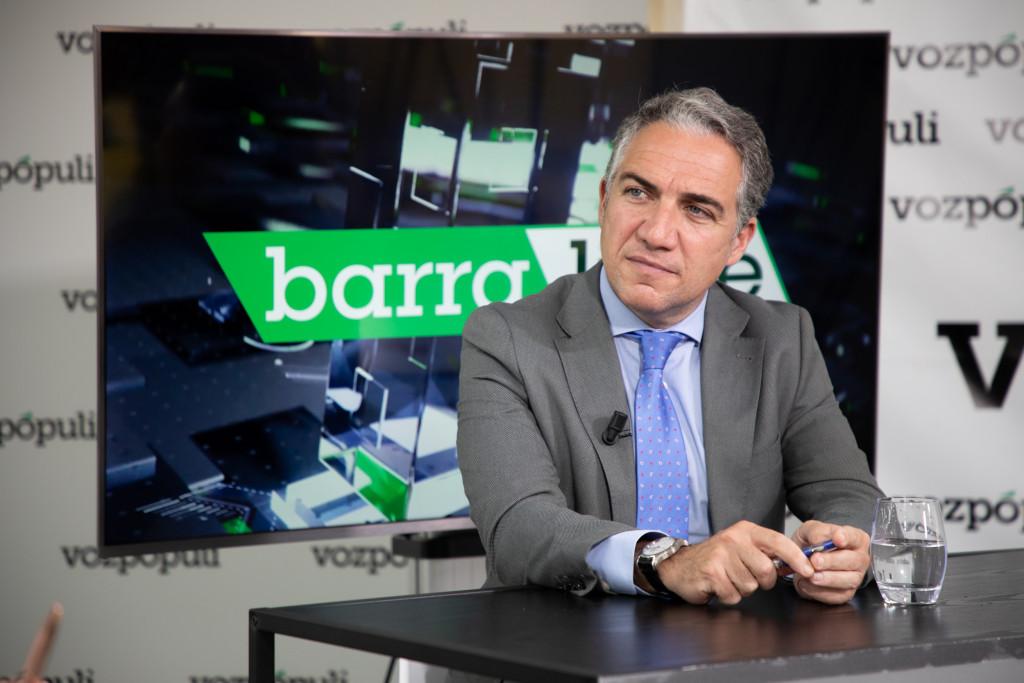 Elías Bendodo en la entrevista con Vozpópuli