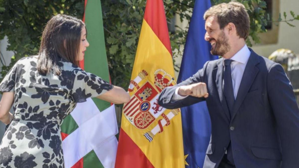 Casado ofreció a Arrimadas entrar en la dirección del PP como vicesecretaria general