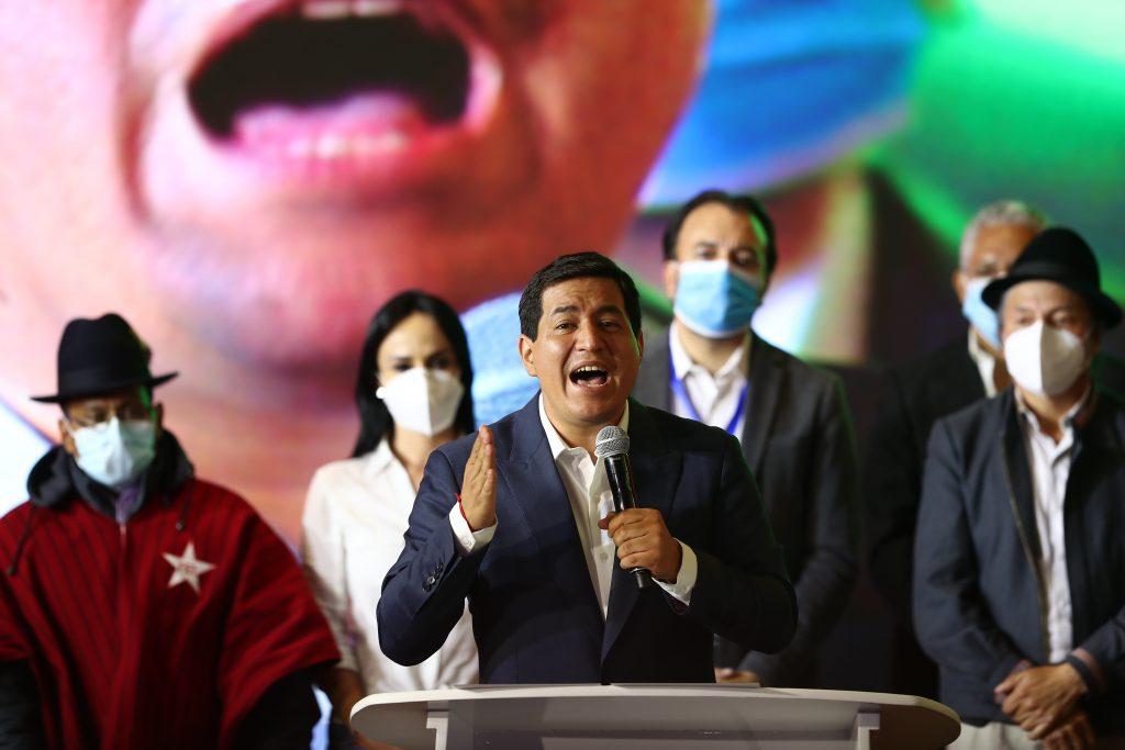 El candidato correista Andrés Arauz acepta su derrota en las elecciones en Ecuador