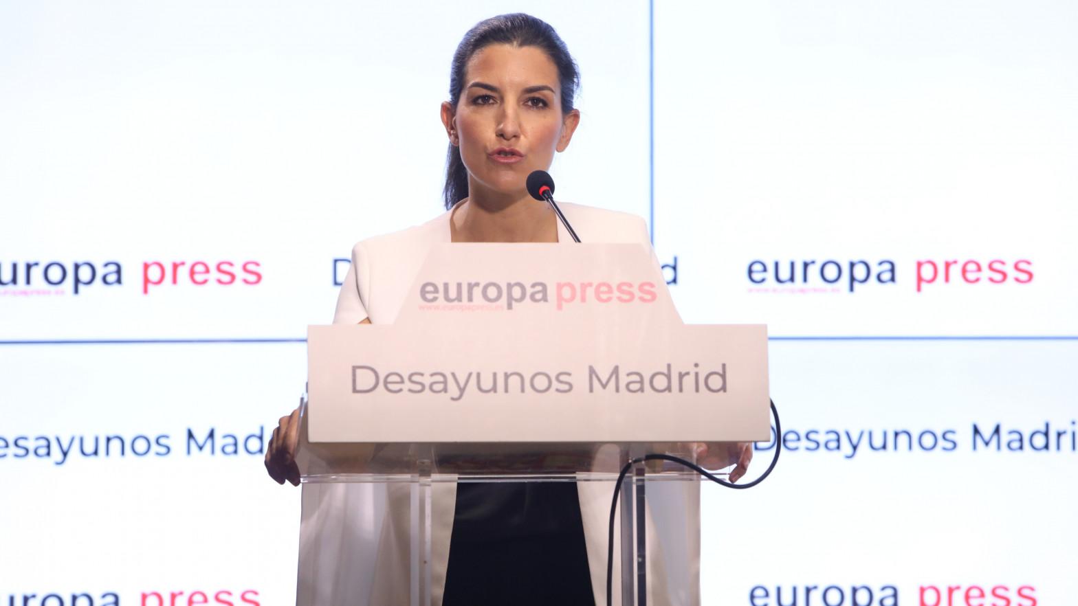"""Rocío Monasterio marca el objetivo de que Podemos no tenga escaños en Madrid: """"Si no entra, se acabó en toda España"""""""