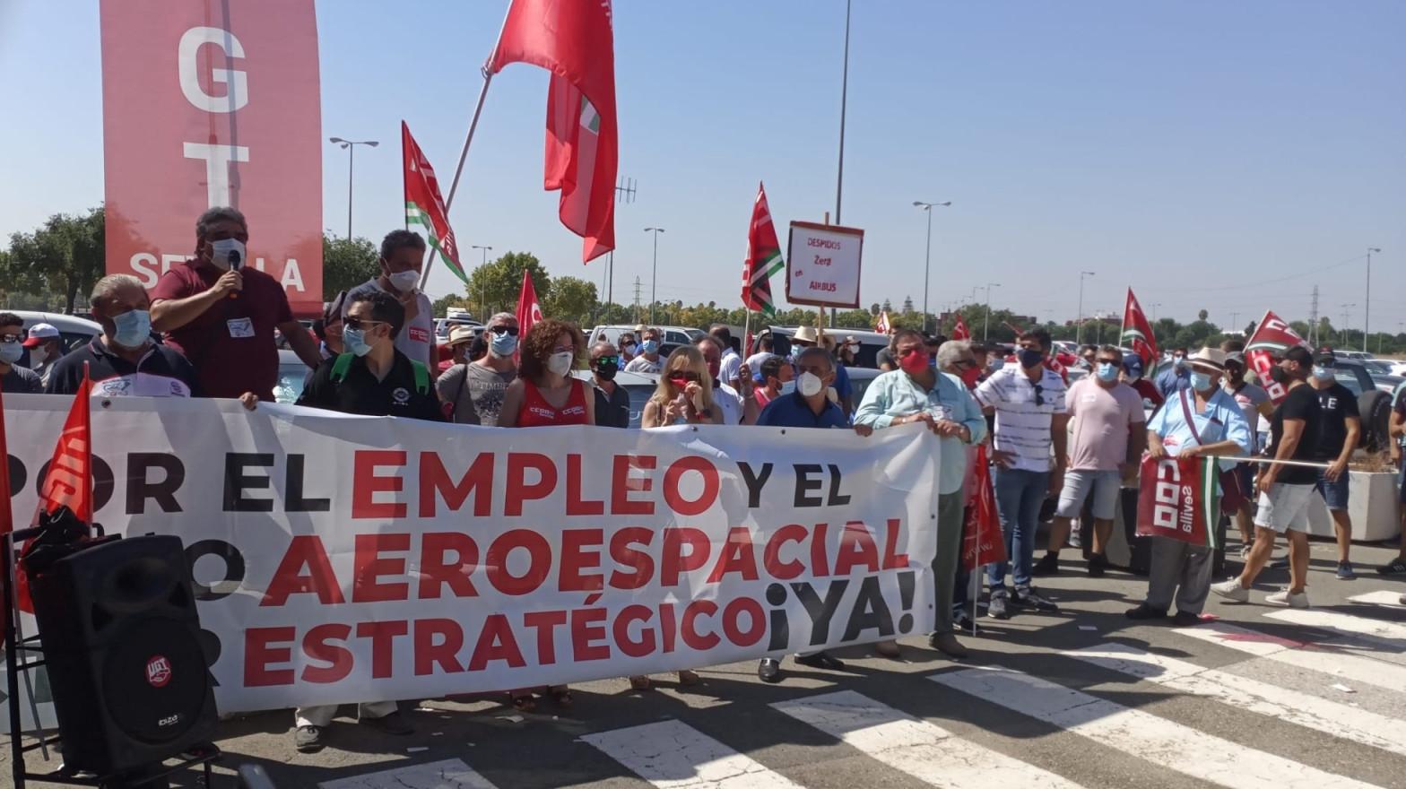 Los trabajadores de Airbus anuncian una huelga en todas sus plantas en España