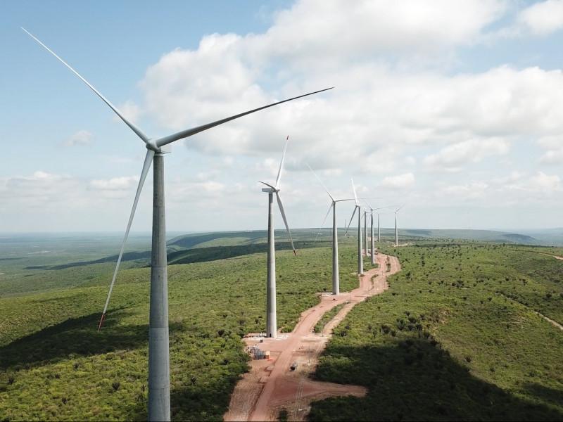 Molinos de energía eólica.