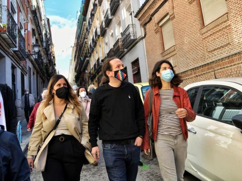 Iglesias prepara el relato para 'vender' un 5% de votos en Madrid como un éxito