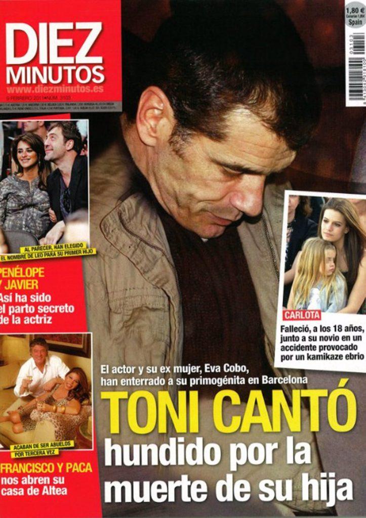 Toni Cantó, hundido tras la muerte de su hija Carlota